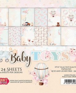 Baby Toys - Blocchetto Cartoncino 6x6 (24 fogli)