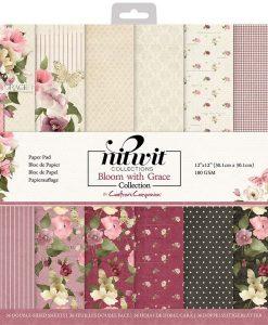 Bloom with Grace Crafter's Companion - Blocchetto Cartoncino 12x12 (36 pezzi)