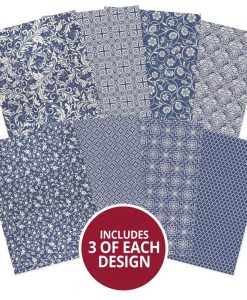 Blue & Cream Adorable Scorable Hunkydory - Cartoncino A4 (24 pezzi)