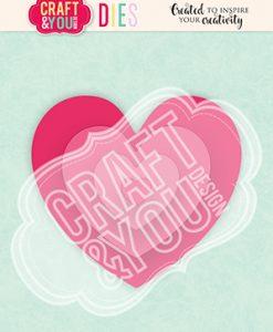Cuori Hearts 2 Craft & You - Fustella (4 pezzi)
