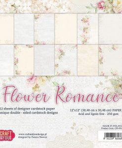 Flower Romance - Blocchetto Cartoncino 12x12 (12 fogli)
