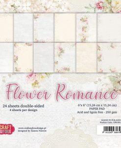 Flower Romance - Blocchetto Cartoncino 6x6 (24 fogli)