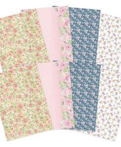 Forever Florals Rose Hunkydory - Foglio vellum (8 fogli)