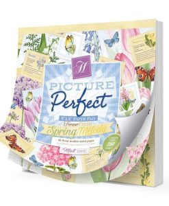 """Forever Florals - Spring Melody Picture Perfect Pad - Blocchetto Cartoncino 8x8"""""""