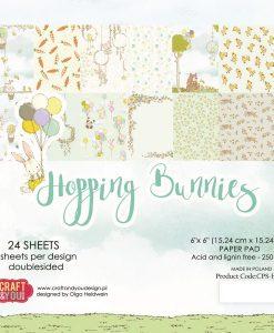 Hopping Bunnies - Blocchetto Cartoncino 6x6 (24 fogli)