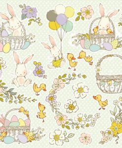 "Hopping Bunnies Craft & You Design - Elementi da ritagliare 12x12"" (2 pezzi)"