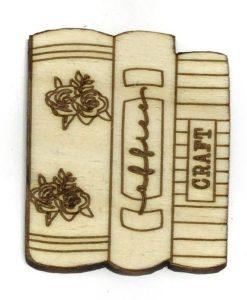 Libri Fridita - Abbellimento in legno 10cm