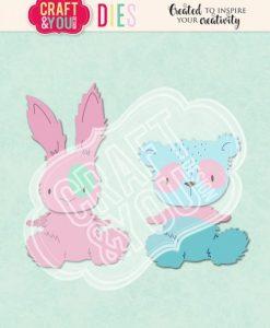 Orsacchiotto e coniglietto Craft & You - Fustella (6 pezzi)