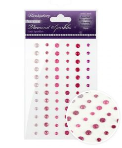 Pink Sparkles Hunkydory - Perle Adesive (72 pezzi)