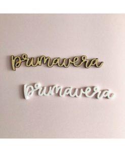 """Primavera"" Ari Alúa Cid - Scritta in plexiglass (1 pezzo)"