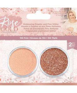 Rose Gold polvere da embossing e glitter Crafter's Companion