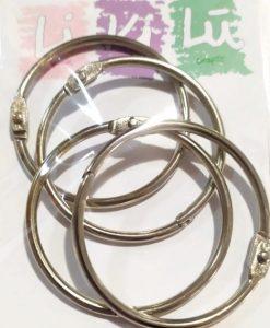 Set di anelli in metallo 50mm - Metallo (4 pezzi)