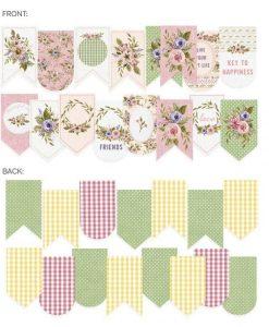 Banner fustellato Stitched with love P13 die-cut (15 pezzi)