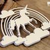 Believe in Unicorns Decor Scrapiniec - chipboard
