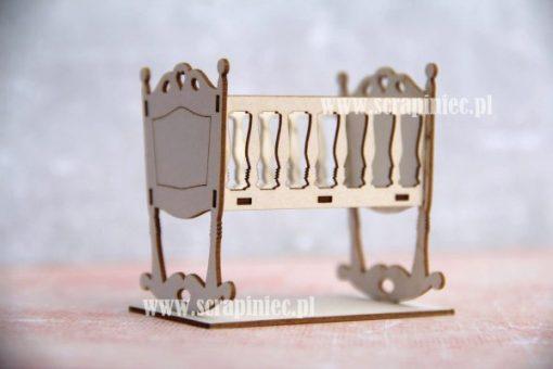 Culla fustellata V2 in 3D - elemento fustellato Scrapiniec