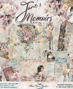Jane's Memoirs Blue Fern Studios - Blocchetto Cartoncinio 12x12 (10 fogli)