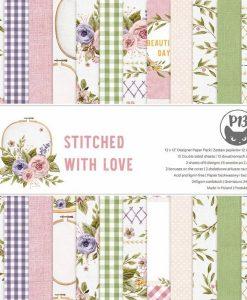 Stitched with love P13 - Blocchetto Cartoncino 12x12 (12 fogli)