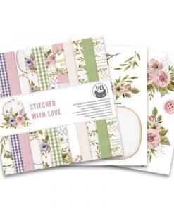Stitched with love P13- Blocchetto Cartoncino 6x6 (24 fogli)