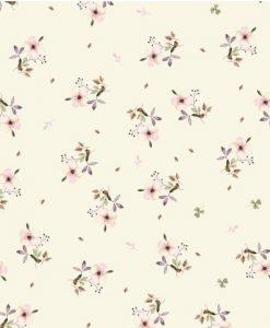 Carta per rivestimento Flor Malva Rosa El Altillo de los Duendes