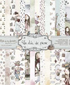 Collezione Un Día de Picnic El Altillo de los Duendes - Cartoncino 12x12 (16 fogli)