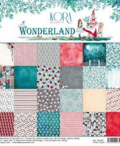 Collezione Wonderland Kora Projects - Blocchetto Cartoncino 12x12 (12 fogli)