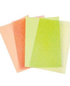 Darice Sequins sheets Cream/lime peach - Fogli per paillettes (4 fogli)