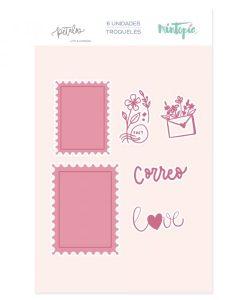 Fustella Sellos Postales (francobolli) Pétalos Mintopía (6 pezzi)