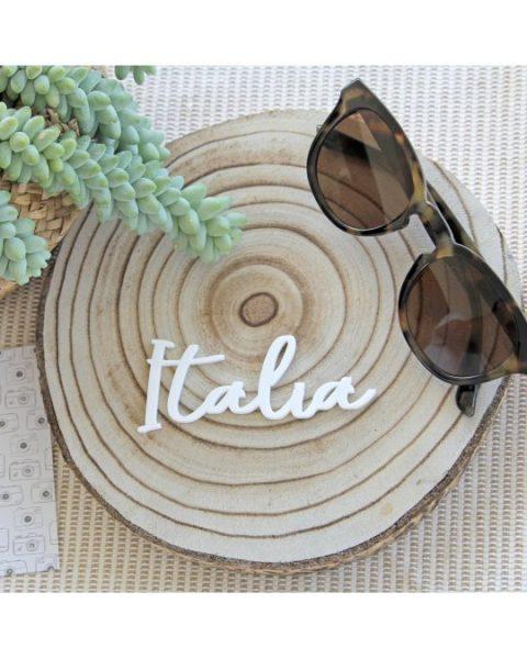 """Italia"" Travel Alúa Cid - Scritta in plexiglass (1 pezzo)"