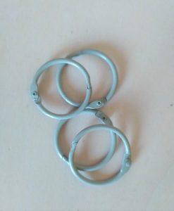 Set di anelli in metallo 30mm - Grigio (4 pezzi)