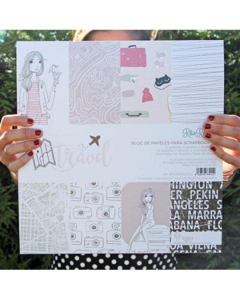Stack Travel Rita Rita - Blocchetto Cartoncino 12x12 (36 pezzi)
