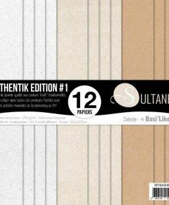 """Sultane Authentic Edition #1 Basilike - Blocchetto Cartoncino 12x12"""" (12 fogli)"""