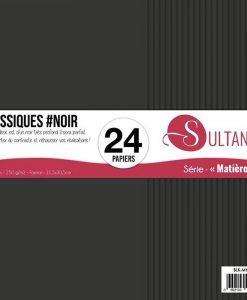 """Sultane Classiques #Noir - Blocchetto Cartoncino 12x12"""" (24 fogli)"""