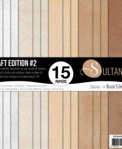 """Sultane Kraft Edition #2 Basilike - Blocchetto Cartoncino 12x12"""" (15 fogli)"""