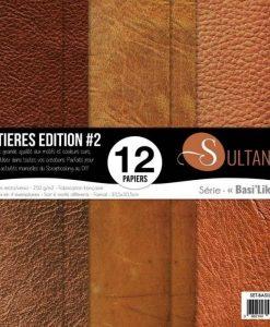 """Sultane Matières Edition #2 Basilike - Blocchetto Cartoncino 12x12"""" (12 fogli)"""