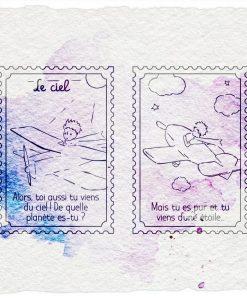Timbro - Le ciel Il Piccolo Principe (2 pezzi)