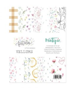 Vellum Pétalos Mintopía - Blocchetto Cartoncino 6x8 (15 pezzi)