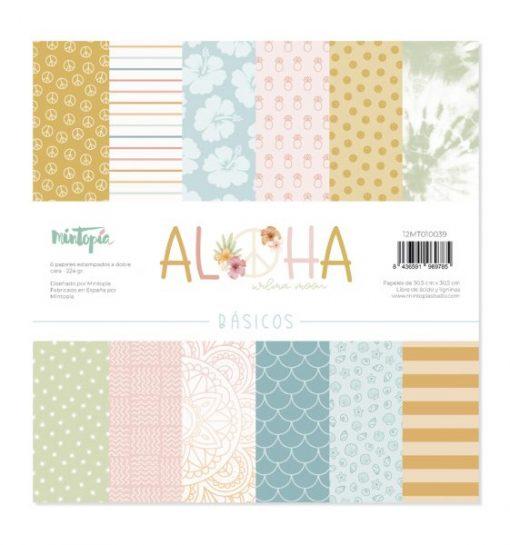"""BASIC Aloha Mintopía - Blocchetto Cartoncino 12x12"""" (6 fogli)"""