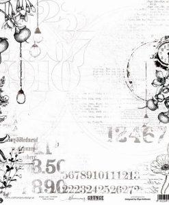 """Blooming Grunge Carta per acquerelli Craft & You Design - Carta 12x12"""""""