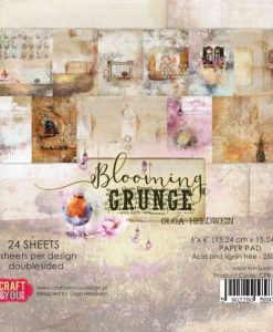Blooming Grunge Craft & You Design - Blocchetto Cartoncino 6x6 (24 fogli)