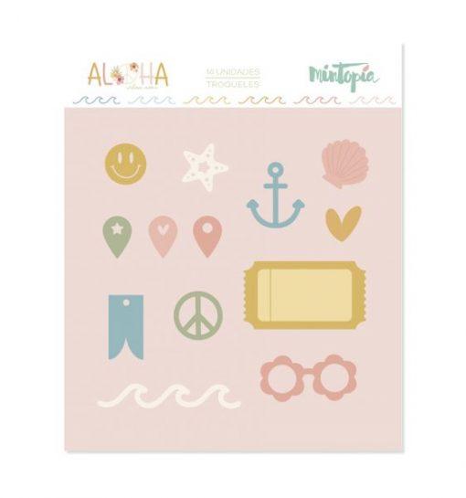 Fustella tickets e icone Aloha Mintopía (14 pezzi)