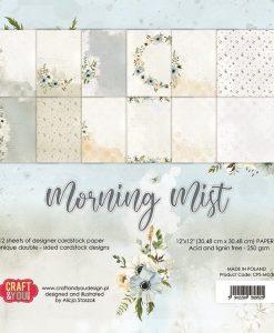 "Morning Mist Craft & You Design - Blocchetto Cartoncino 12x12"" (12 fogli)"
