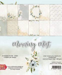 Morning Mist Craft & You Design - Blocchetto Cartoncino 6x6 (24 fogli)