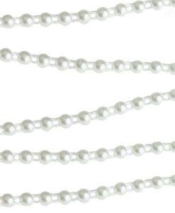 Nastro sottile di perline - Avorio (4mm)