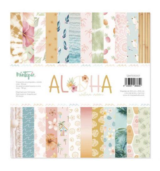 Stack Aloha Mintopía - Blocchetto Cartoncino 12x12 (36 fogli)