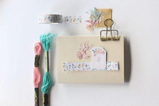 Washi tape Pétalos Mintopía by Little Hannah
