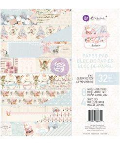 Christmas Sparkle Prima Marketing - Blocchetto Cartoncino 8x8 (32 fogli)
