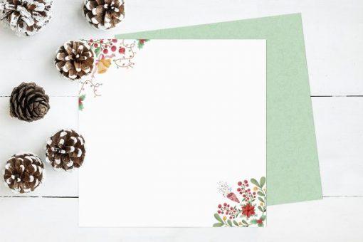 Collezione Chibi Natale Paraes - Blocchetto Cartoncino 12x12 (14 fogli) 13
