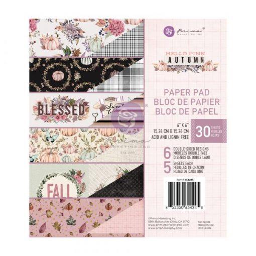 Hello Pink Autumn (PICCOLO) Prima Marketing - Blocchetto Cartoncino 6x6 (30 fogli)