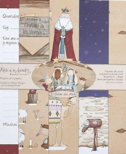 Kit presepe El Altillo de los Duendes - Cartoncino 12x12 (4 fogli)